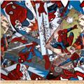Marvel Spiderman Fleece Comic Toss Multi