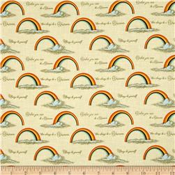 Riley Blake Unicorn & Rainbows Poster Orange