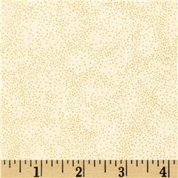 Stained Glass Christmas Metallic Dots Natural/Gold Fabric