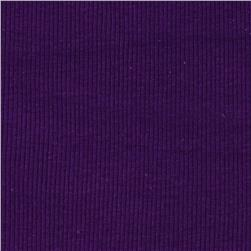 Basic Cotton Rib Knit Purple