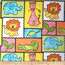 Fleece Prints Animals Multi