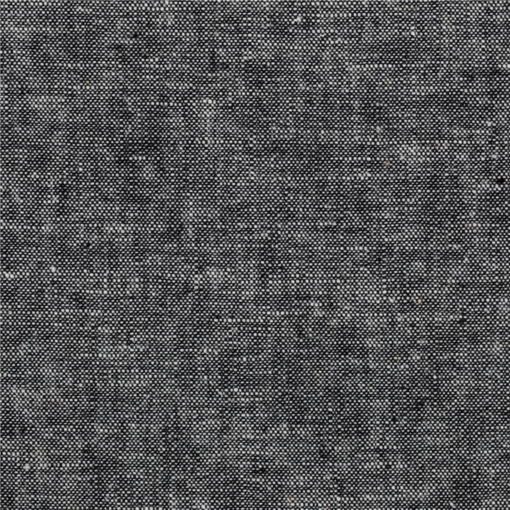 Kaufman essex yarn dyed linen blend black discount for Black fabric