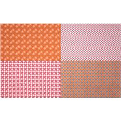 Riley Blake Gracie Girl Fat Quarter Panel Pink