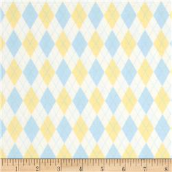 Baby Business Mini Argyle Yellow/Blue