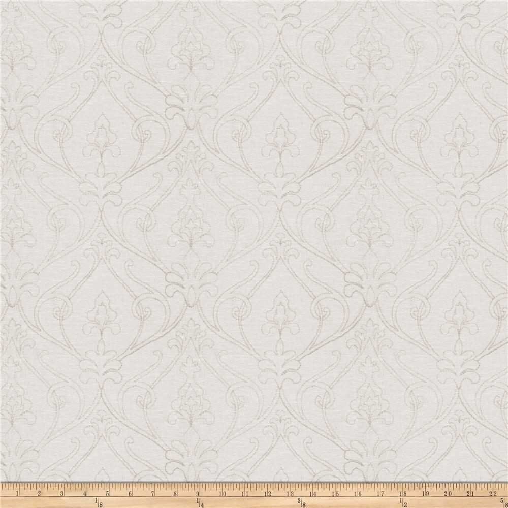 Fabricut Teddy Damask Linen Blend Grey