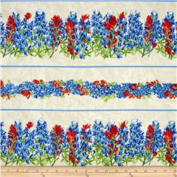 Moda Texas Proud Texas Wildflower Borders Cream