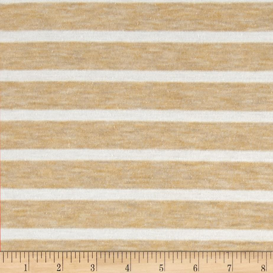 Jersey Knit Stripes Beige/White