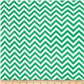 Minky Cuddle Mini Chevron Kelly Green/Snow