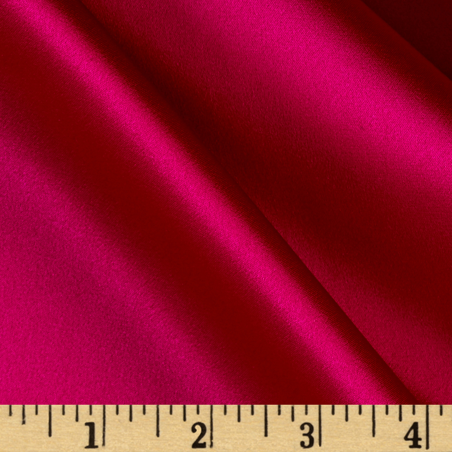 Image of 100% Silk Charmeuse Dark Magenta Fabric