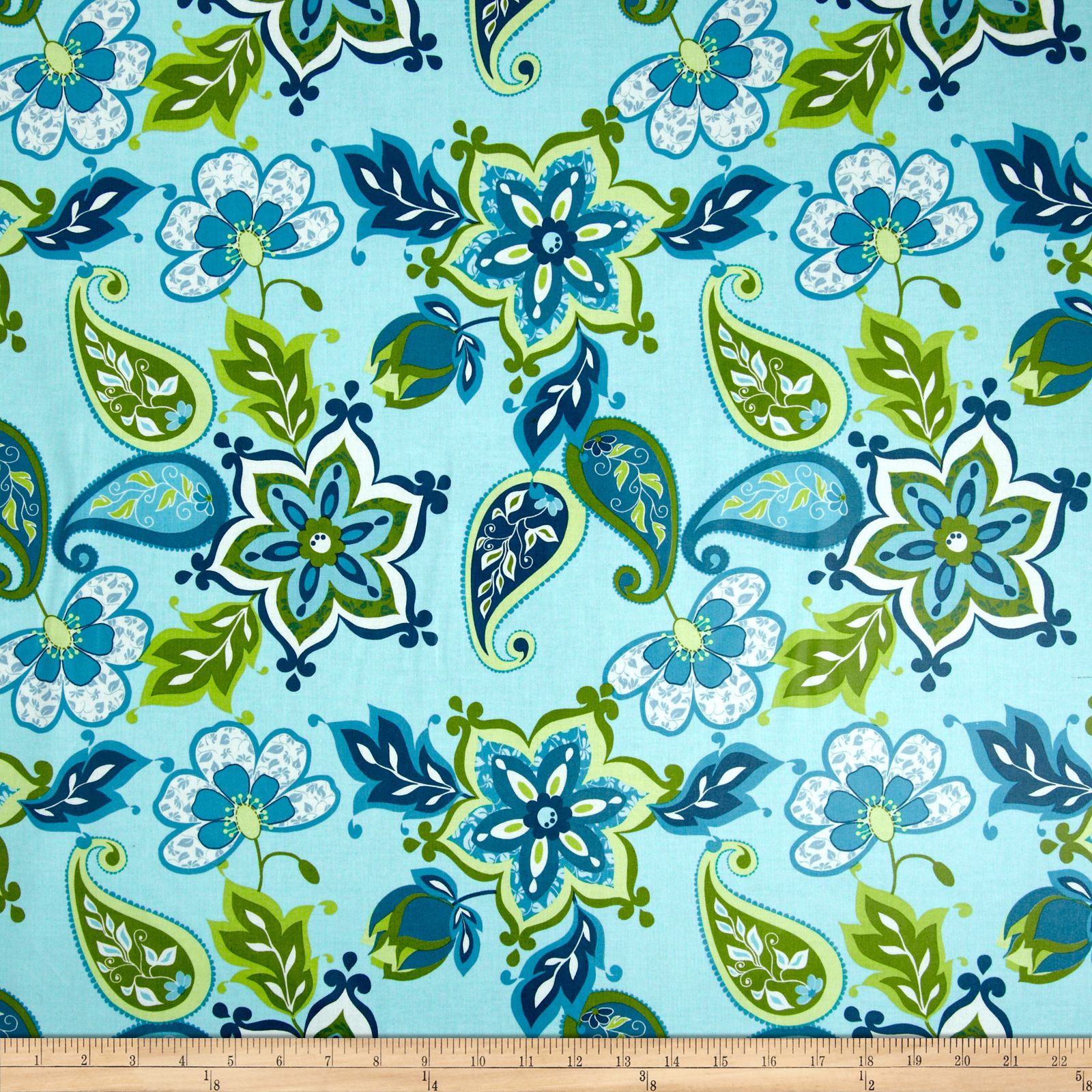Riley Blake Laminate Splendor Large Floral Blue