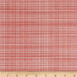 Hand Picked Organic Grid Red