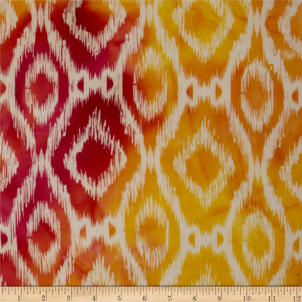 Hudson Bay Ikat Shirting Orange/Yellow