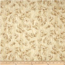 Winter's Grandeur Metallic Large Branches Natural Fabric