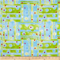 The Garden Club Patchwork Green/Blue Fabric