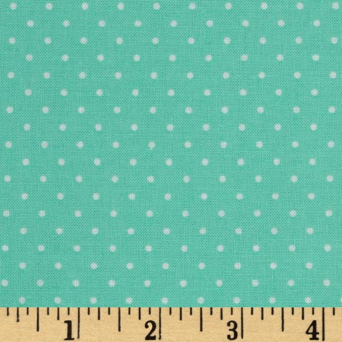 Sweetie Pie Little Dot Aqua/White