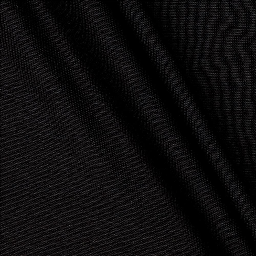 Telio Tencel Solid Jersey Knit Black
