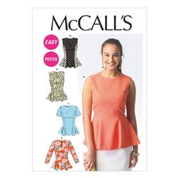 McCall's Misses'/Miss Petite Tops Pattern M6896 Size B50