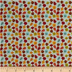 Riley Blake Happy Harvest Acorns Blue Fabric