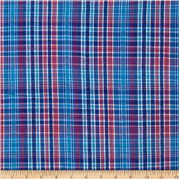Kaufman Cape Cod Seersucker Plaid Americana