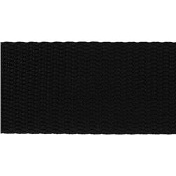 1-1/2'' Nylon Webbing Black - By the Yard