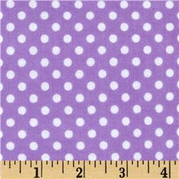 Cuddle Me Basics Flannel Large Dot Lavender Fabric