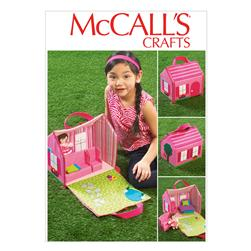 McCall's House, Furniture and Doll Pattern M6766 Size OSZ