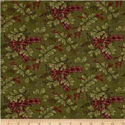 Moda Forever Green Holly & Ribbon Pine