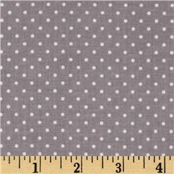Riley Blake Swiss Dots Grey/White
