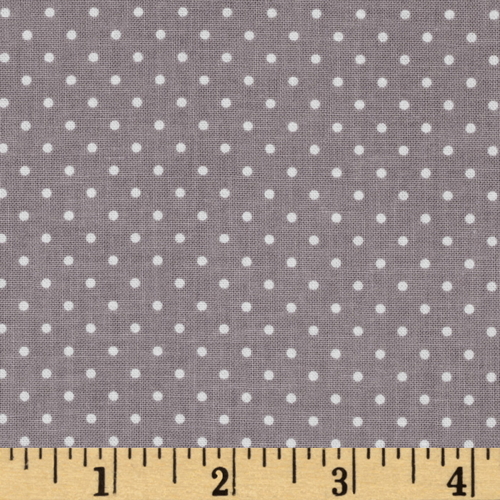 Riley Blake Swiss Dots Grey/White Fabric