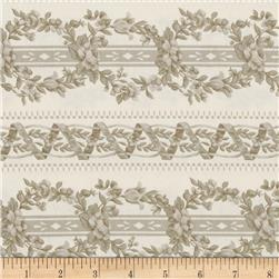 World of Romance Intertwined Vines Tan/Grey