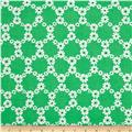 Michael Miller Happy Tones Jemma Floral Lattice Green