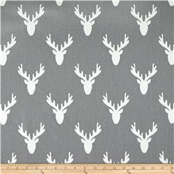 Premier Prints Antlers Cool Grey