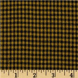 Yarn Dyed Fun Flannel Check Gold/Black