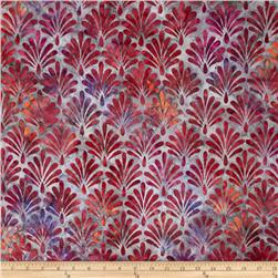 Robert Kaufman Batik Geo Leaf Rose