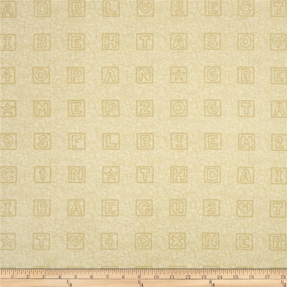 Schoolhouse Fancies Scrabble Tiles Cream Tonal
