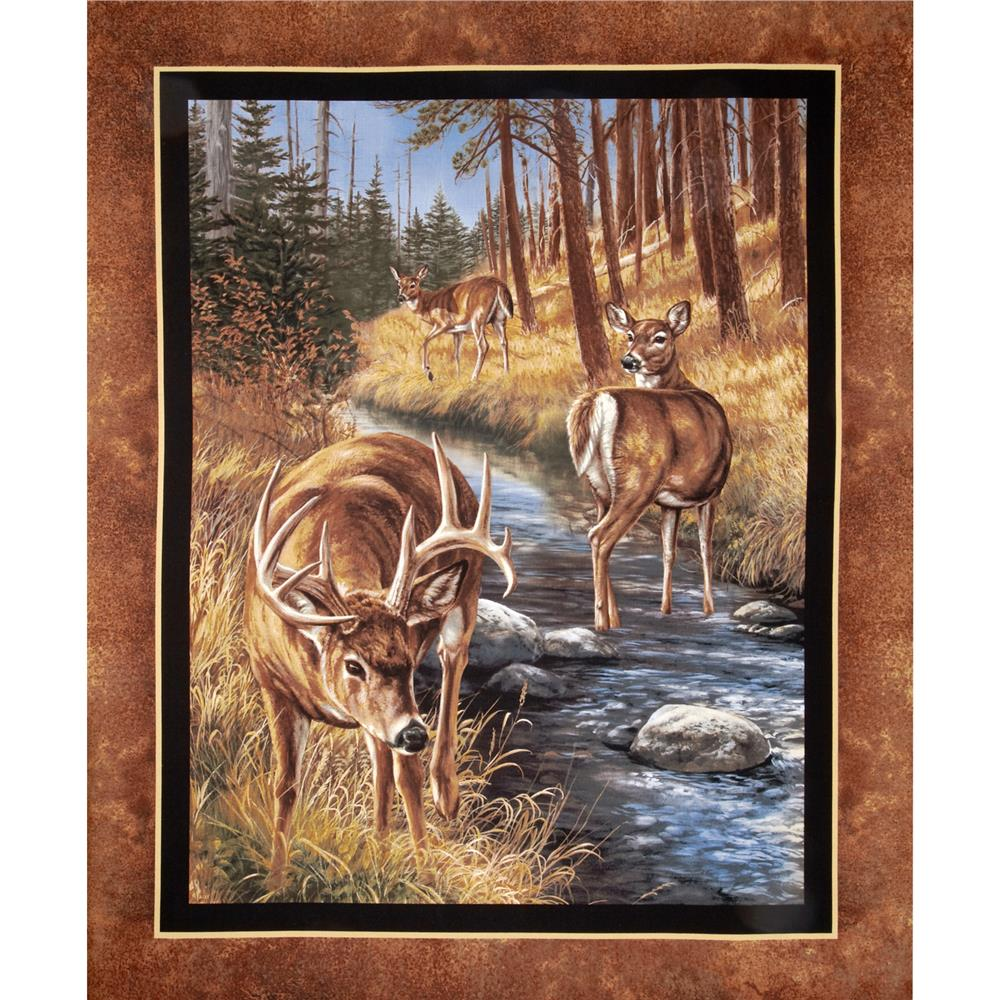 Wild Wings Stoney Brook Deer Wall Panel Brown