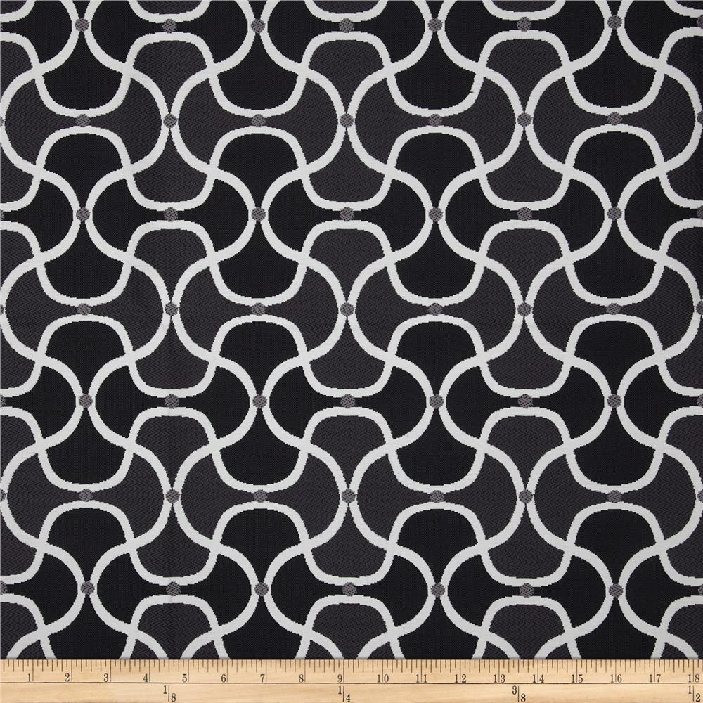 Bella Dura Eco-Friendly Indoor/Outdoor Scallop Jacquard Grey
