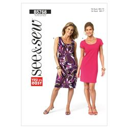 Butterick Misses'/Misses Petite Dress Pattern B5768 Size 0A0