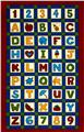 School House Fancies Alphabet Panel Red