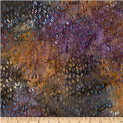 Batavian Batiks Falling Leaves Midnight Mauve