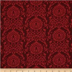 Making Spirits Bright Damask Red