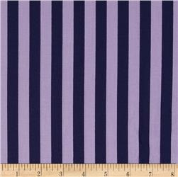Riley Blake 1/2'' Stripe Navy/Purple
