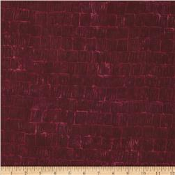 Bali Batiks Acres To Sew Shingles Cranberry