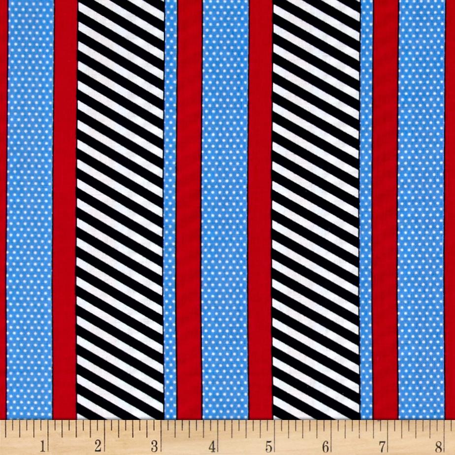 Kanvas Cabana II Dotted Stripe Navy/Blue