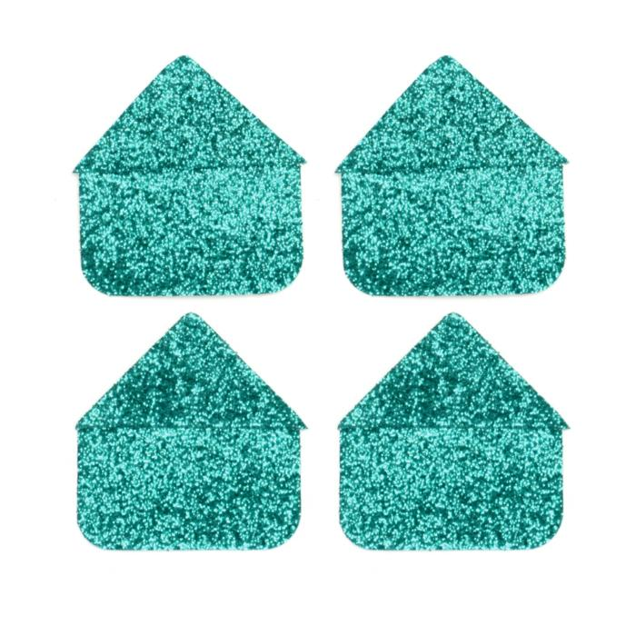 Martha Stewart Crafts Photo Corners Turquoise Glitter