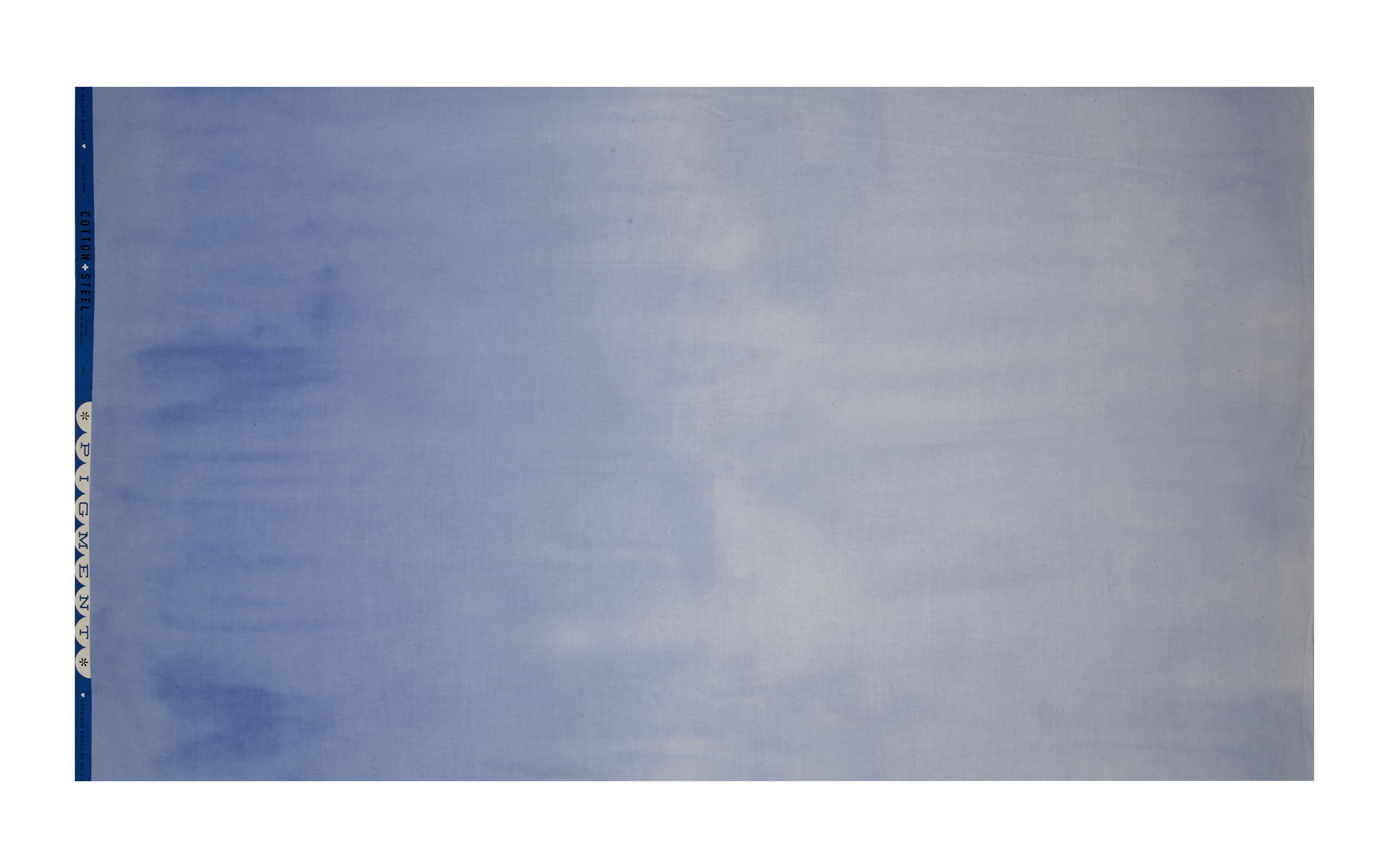 Image of Cotton + Steel Ombre Pigment Periwinkle Fabric
