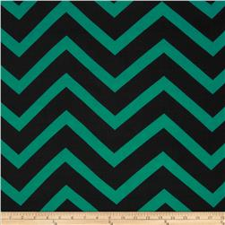 Chiffon Large Stripe Chevron Black/Green