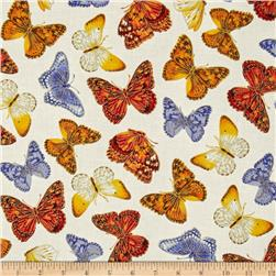 Kanvas Forever Butterflies Metallic Garden Butterfly Cream/Bright
