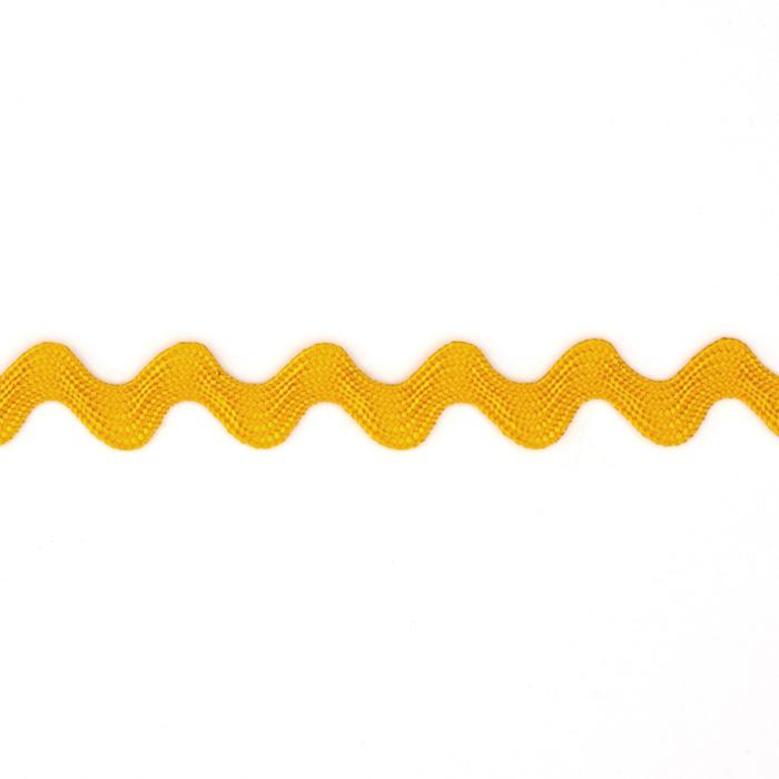 "1/2"" Ric Rac Rayon Medium Trim Gold"