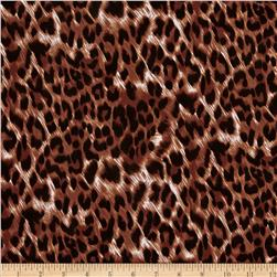 Stretch ITY Jersey Knit Animal Skin Cheetah Rust/Black